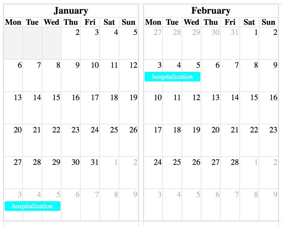 How To Show Event Without Duplication In Full Calendar Year