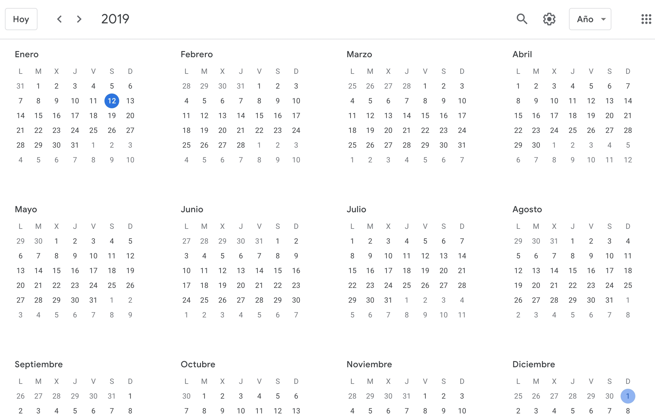 Howto See Google Calendar Events In Yearly View