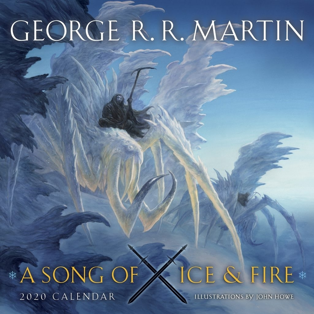 Ice Spiders Grace The Cover Of The 2020 A Song Of Ice And