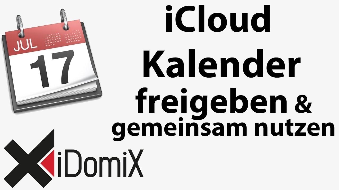 Icloud Kalender Gemeinsam Nutzen Und Freigeben