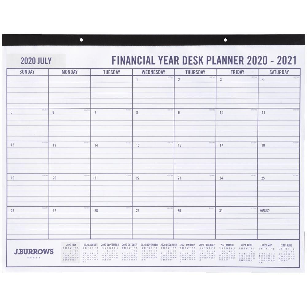 J.burrows Fy20/21 Monthly Desk Planner