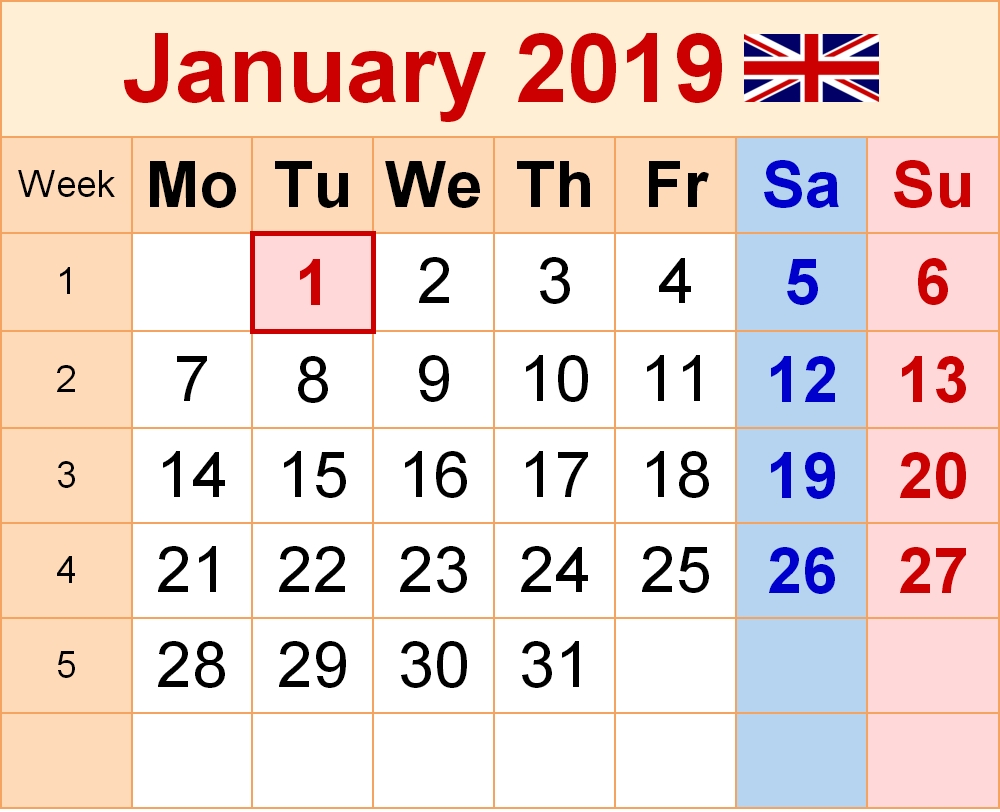 January 2020 Calendar With Holidays Download | September