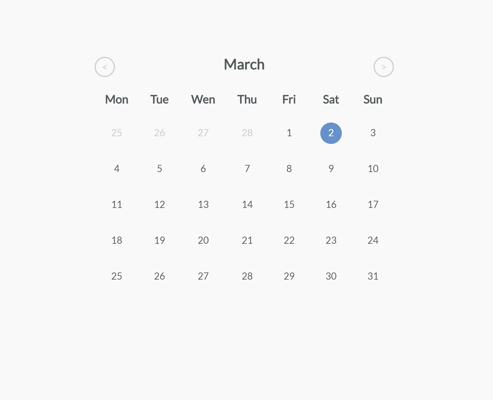 Jquery & Css Simple Calendar Widget To Add Events — Codehim