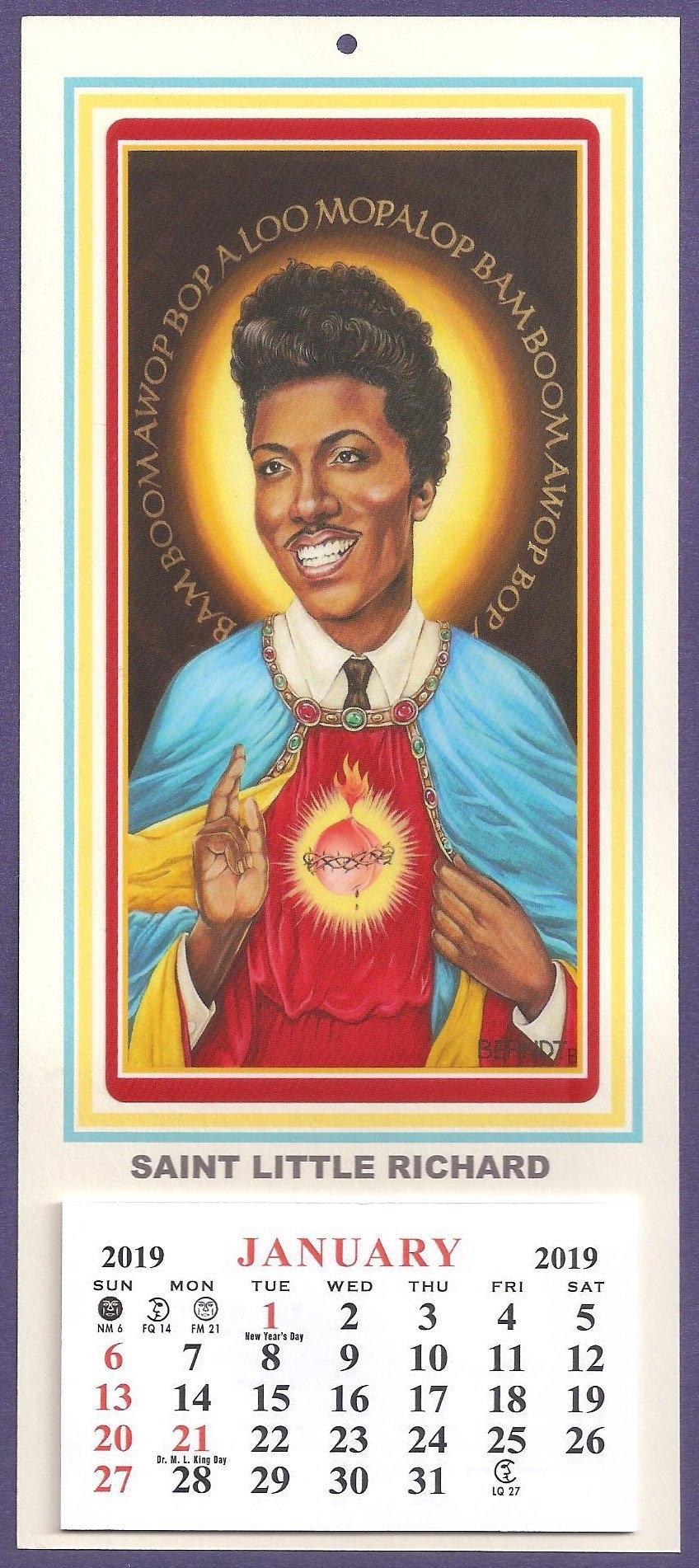 Little Richard, Patron Saint Of Rock 'n' Roll 2020 Calendar For Route 66!