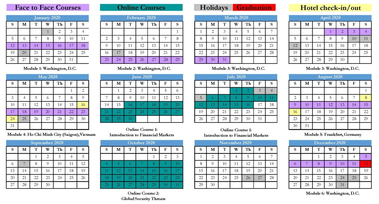 Ma-Ibp 4 Calendar For Web | Mcdonough School Of Business