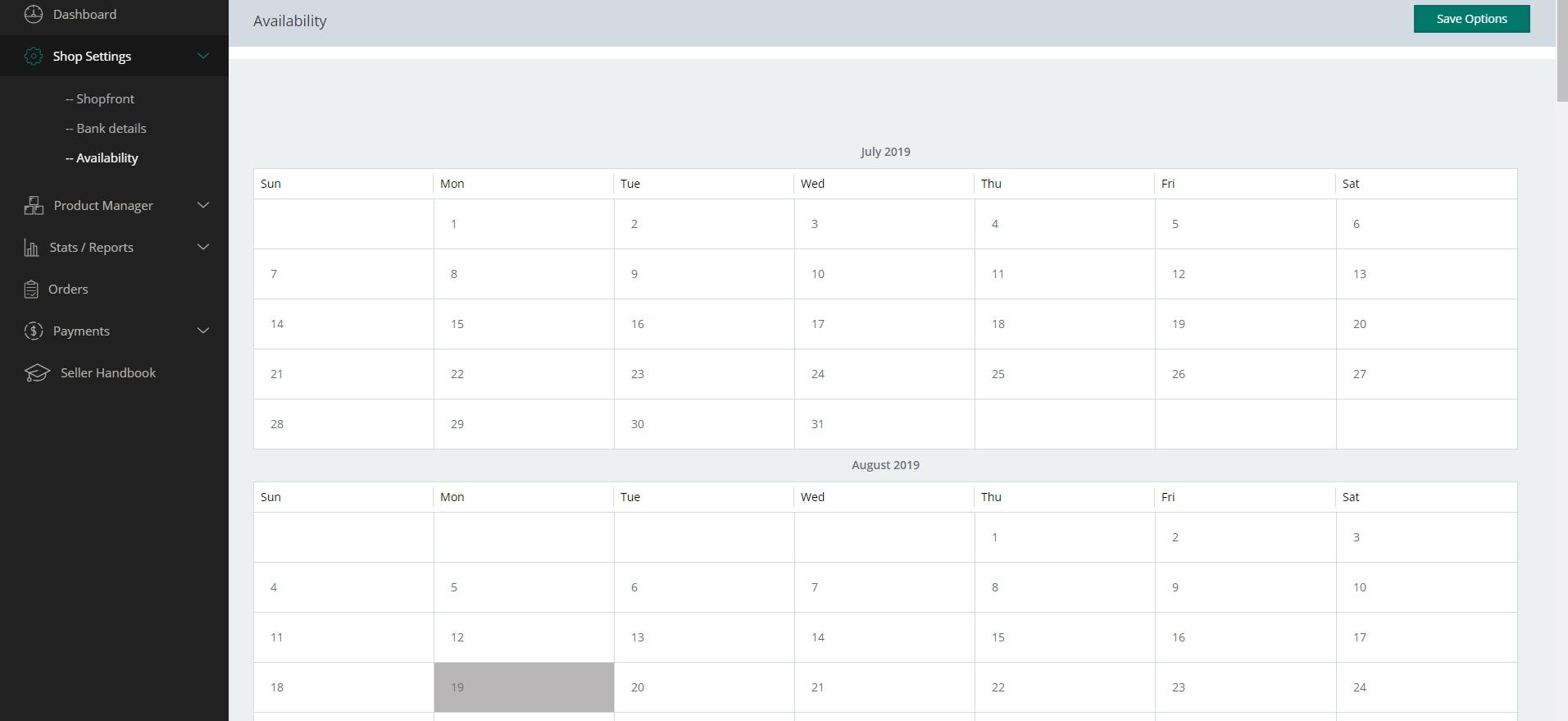 Make Week To Show Monday- Sunday | Multi Vendor Marketplace