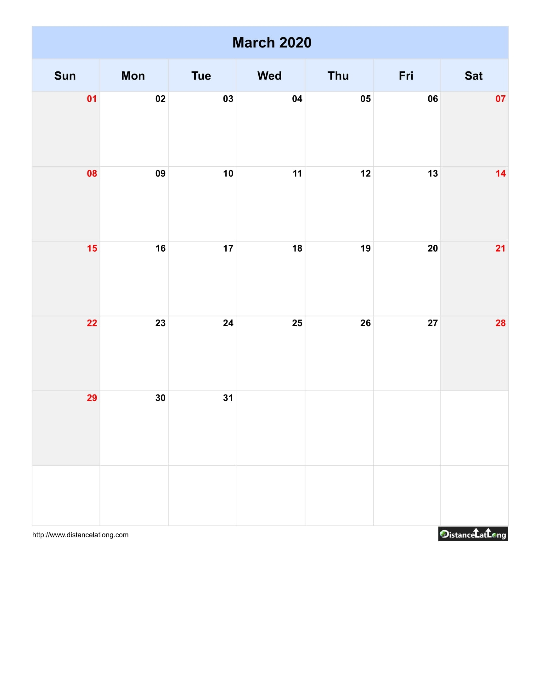 March 2020 Calendars For Pdf, Words And Jpg Formats