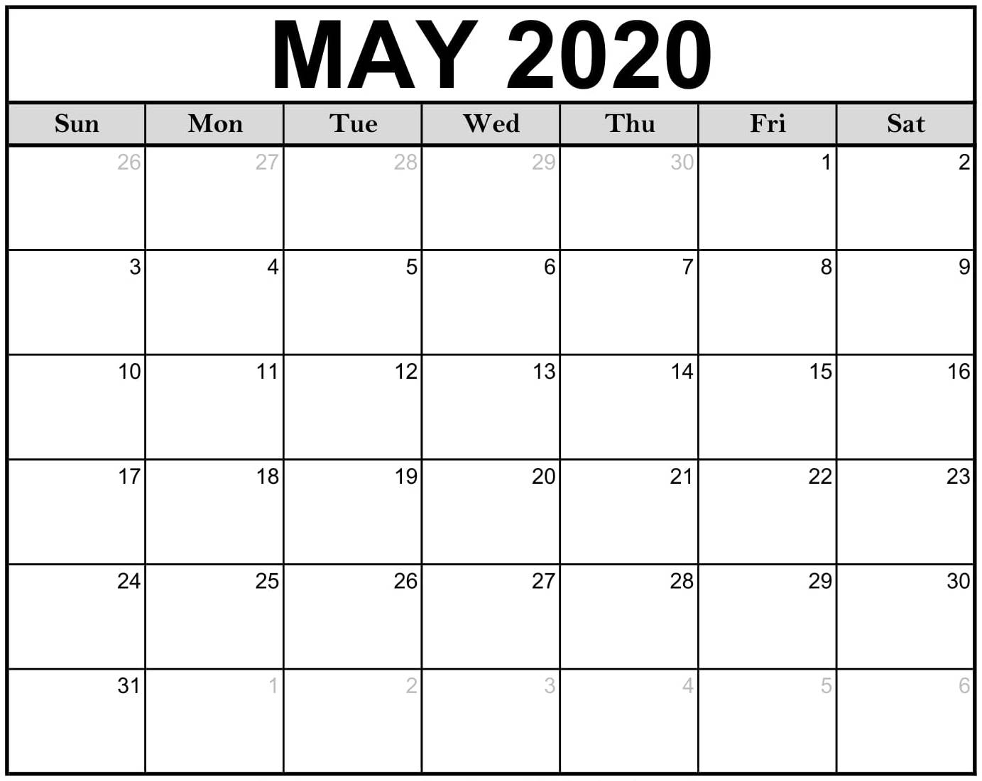 May 2020 Calendar Nz (New Zealand) With Holidays Template