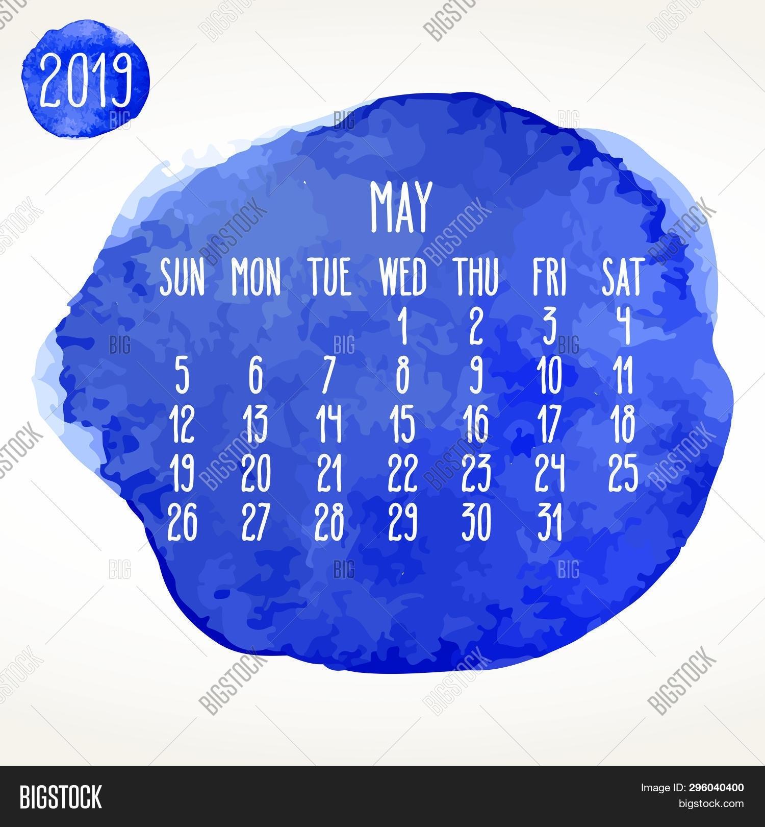 May Year 2019 Vector Vector & Photo (Free Trial) | Bigstock