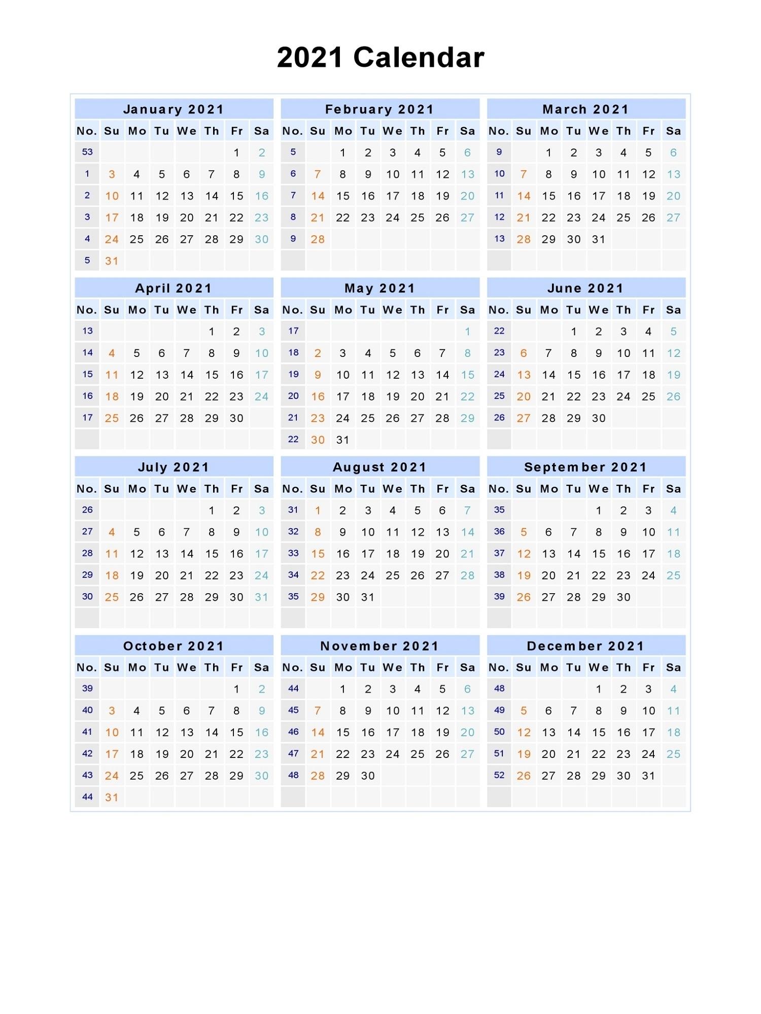 Microsoft Word Calendar Template 2021 Monthly   Calendar Shelter