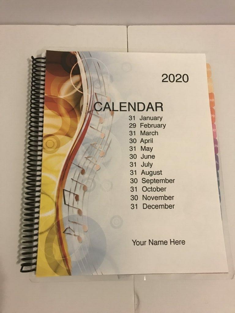 Monthly Calendar Planner: Rock N Roll – N2 Paper