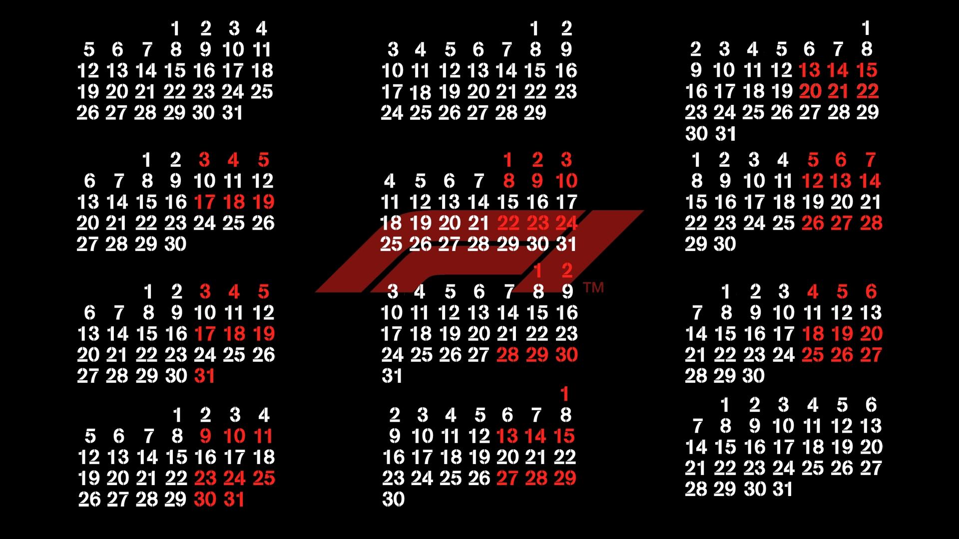 My Version Of The 2020 F1 Calendar : Formula1