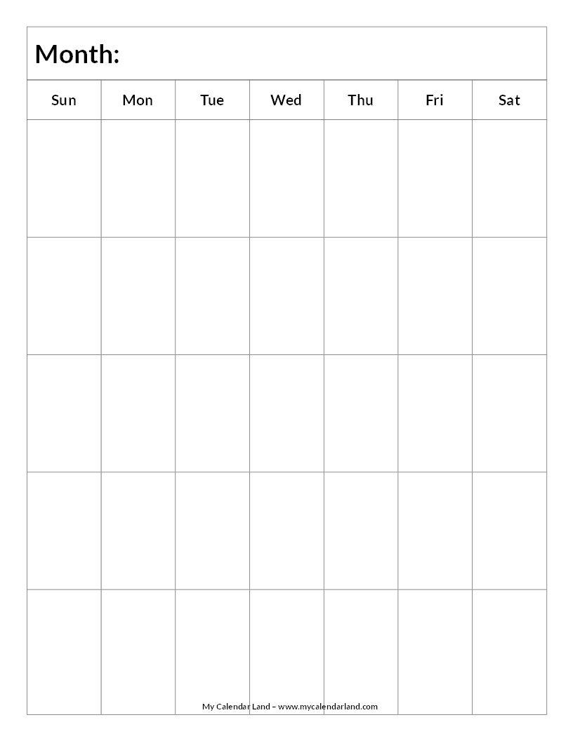 Mycalendarland Calendar Images Blank Blank-Calendar-5