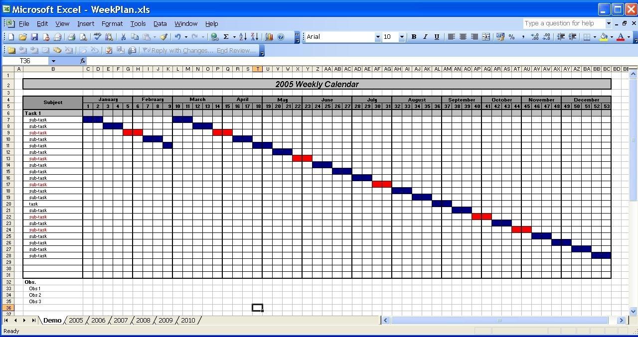 Officehelp - Template (00031) - Calendar Templates 2005