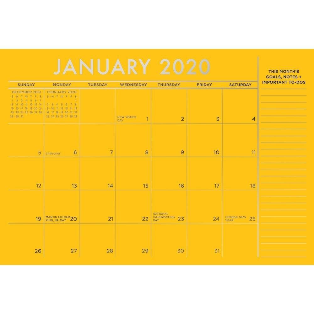 "Paper Source 2019-2020 17 Month Colorful Blotter Calendar, 16"" X 11"""