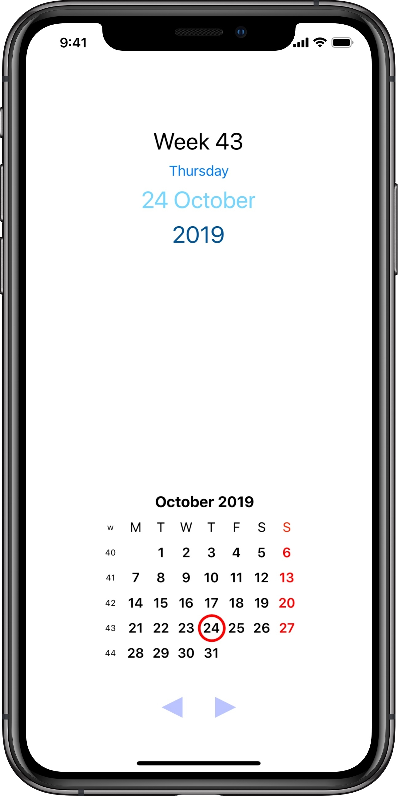 Paws Week - Get A Week Number Widget For Iphone And Apple Watch
