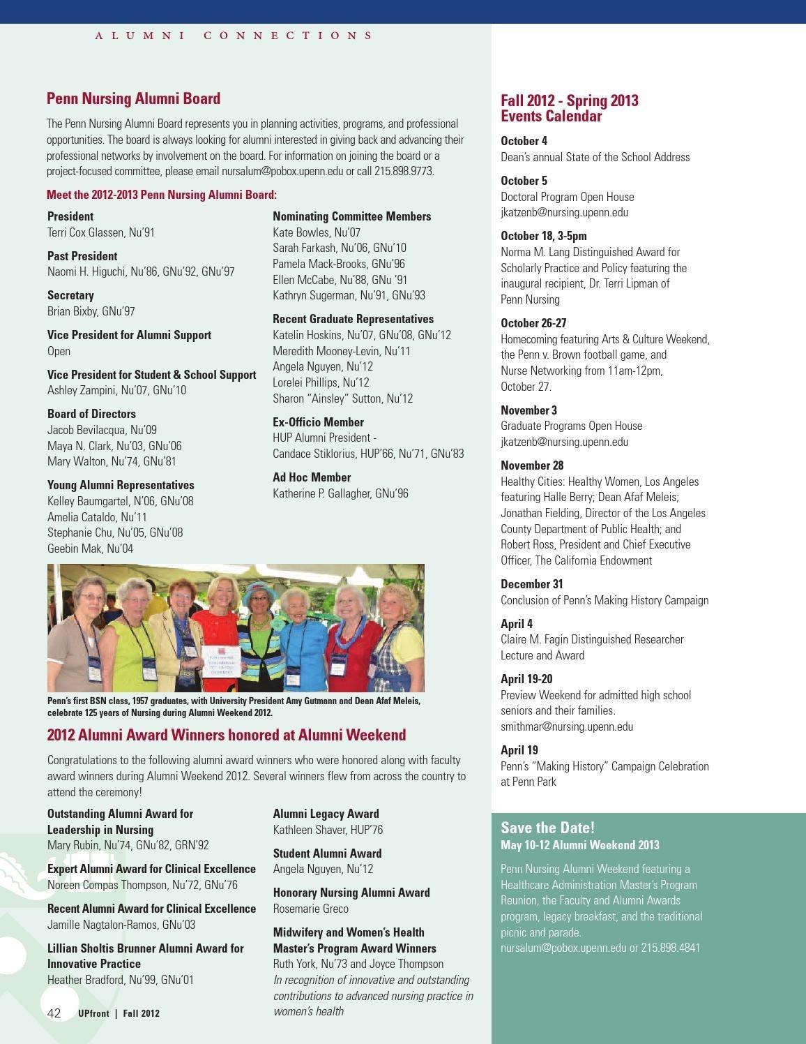 Penn Nursing Upfront: Fall 2012Pennnursing - Issuu
