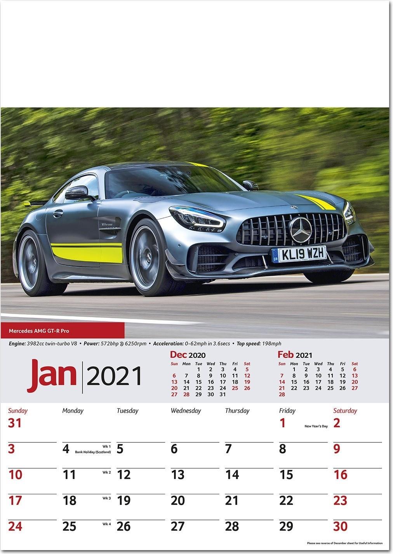 Performance Cars Wall Calendar 2021 - Rose Calendars