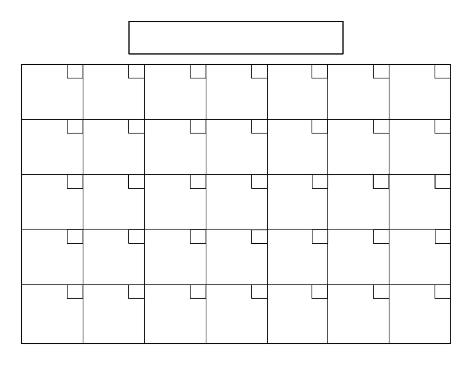 Perpetual Calendar Tutorial   Blank Calendar Template