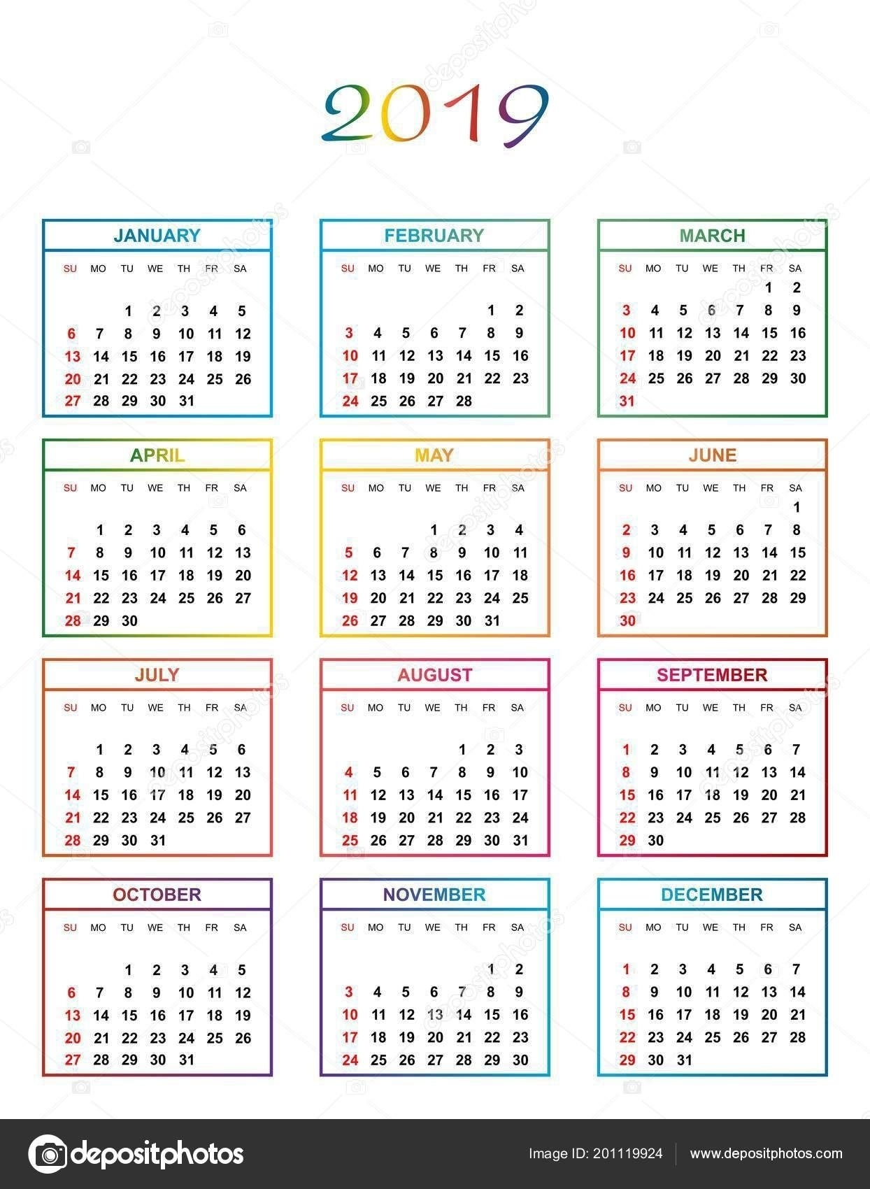 Pick Color Backgrounds August Calendar 2019 | August Calendar