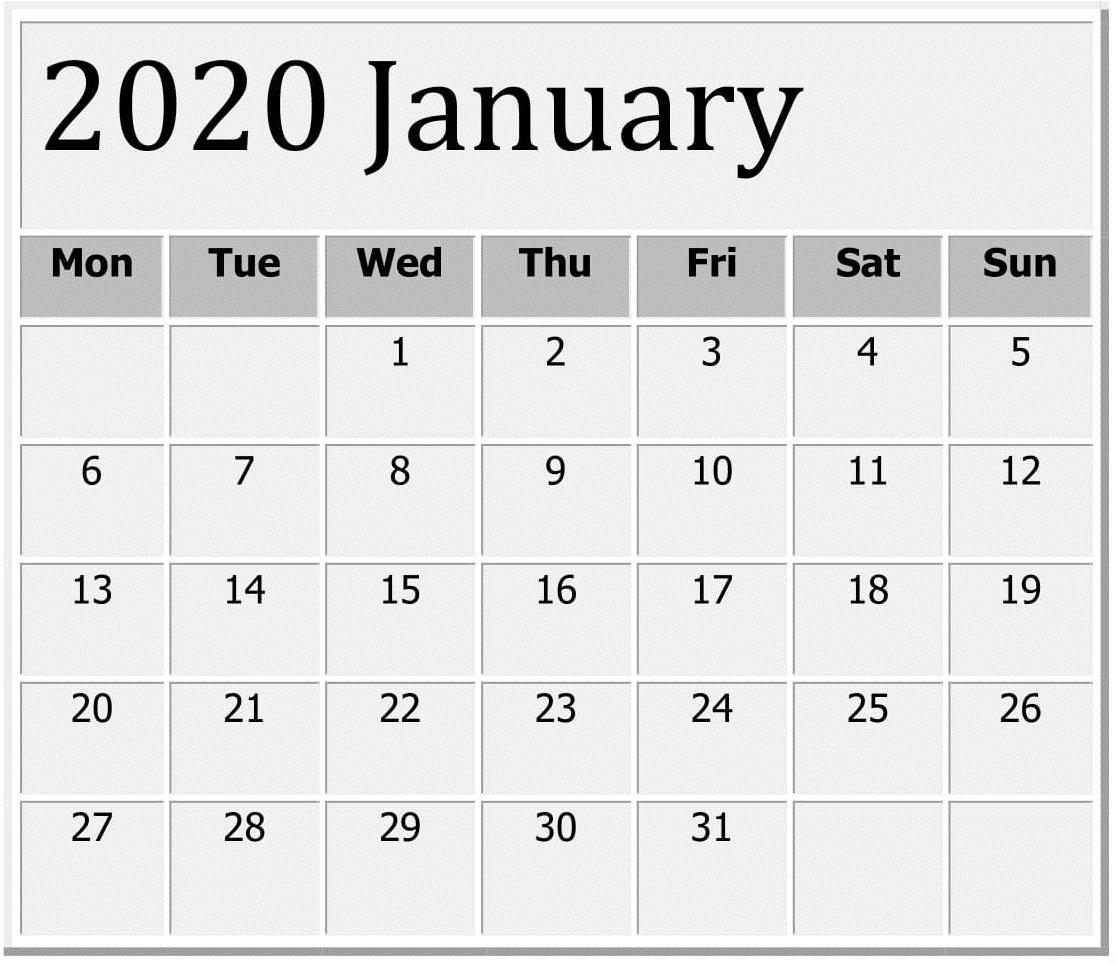 Print 2 Calendars Outlook 2020 | Calendar Printables Free