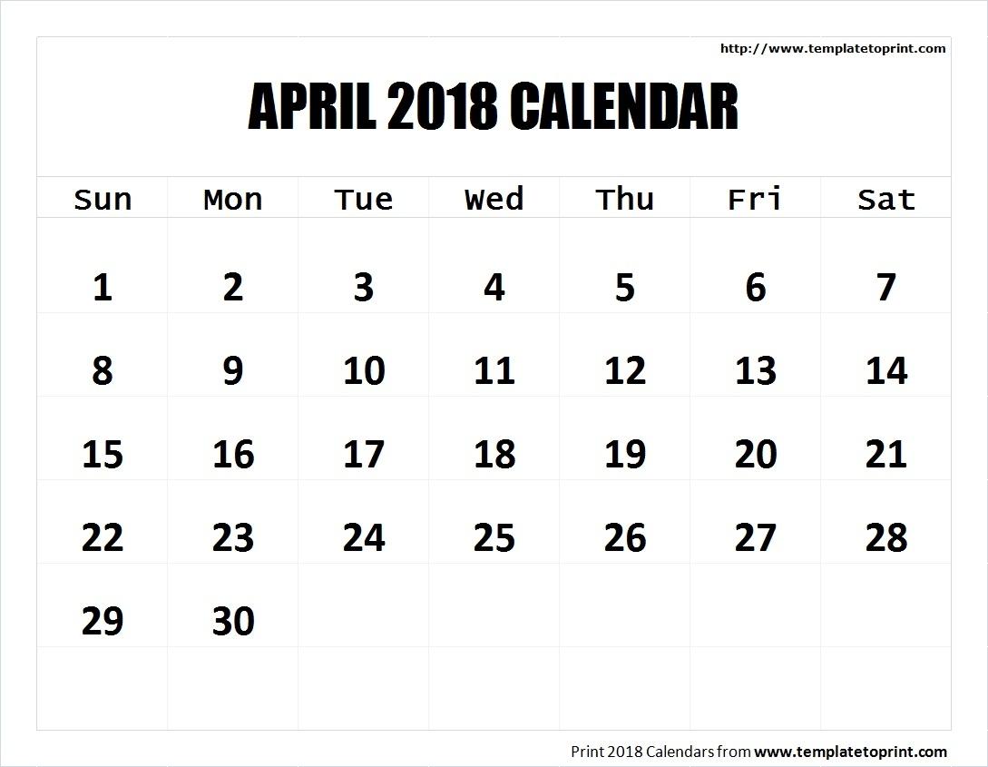 Printable-Blank-April-2018-Calendar-Template-Holidays