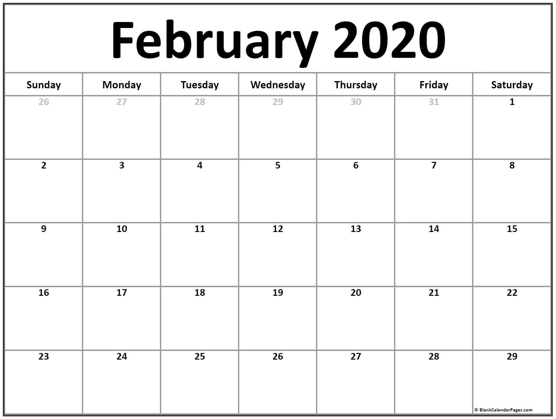Printable Calendar For February 2020 In 2020 | Monthly