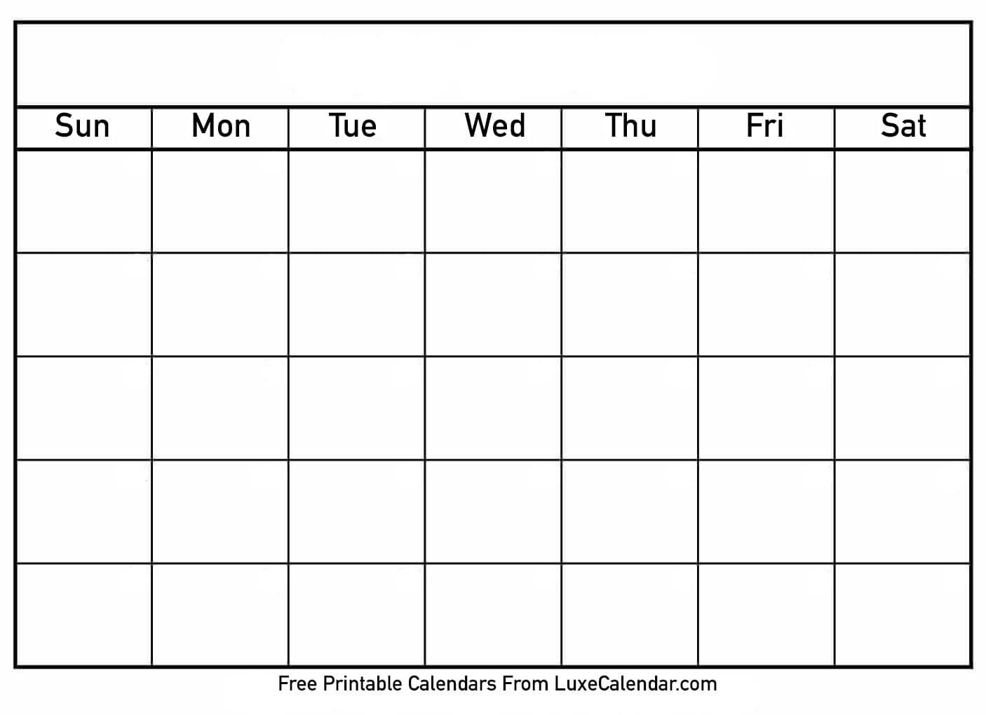 Printable Calendar Templates Full Page - Calendar
