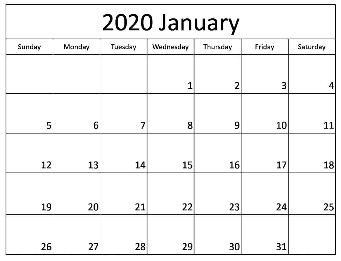 Printable January 2020 Calendar Australia With Holidays