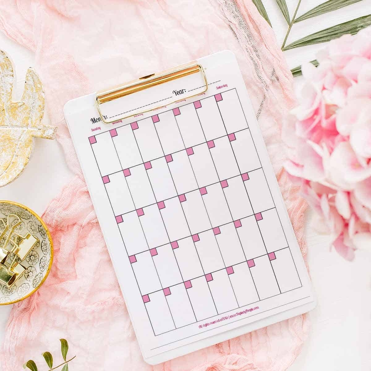 Printable Planner Calendar System For Staples Arc System Or