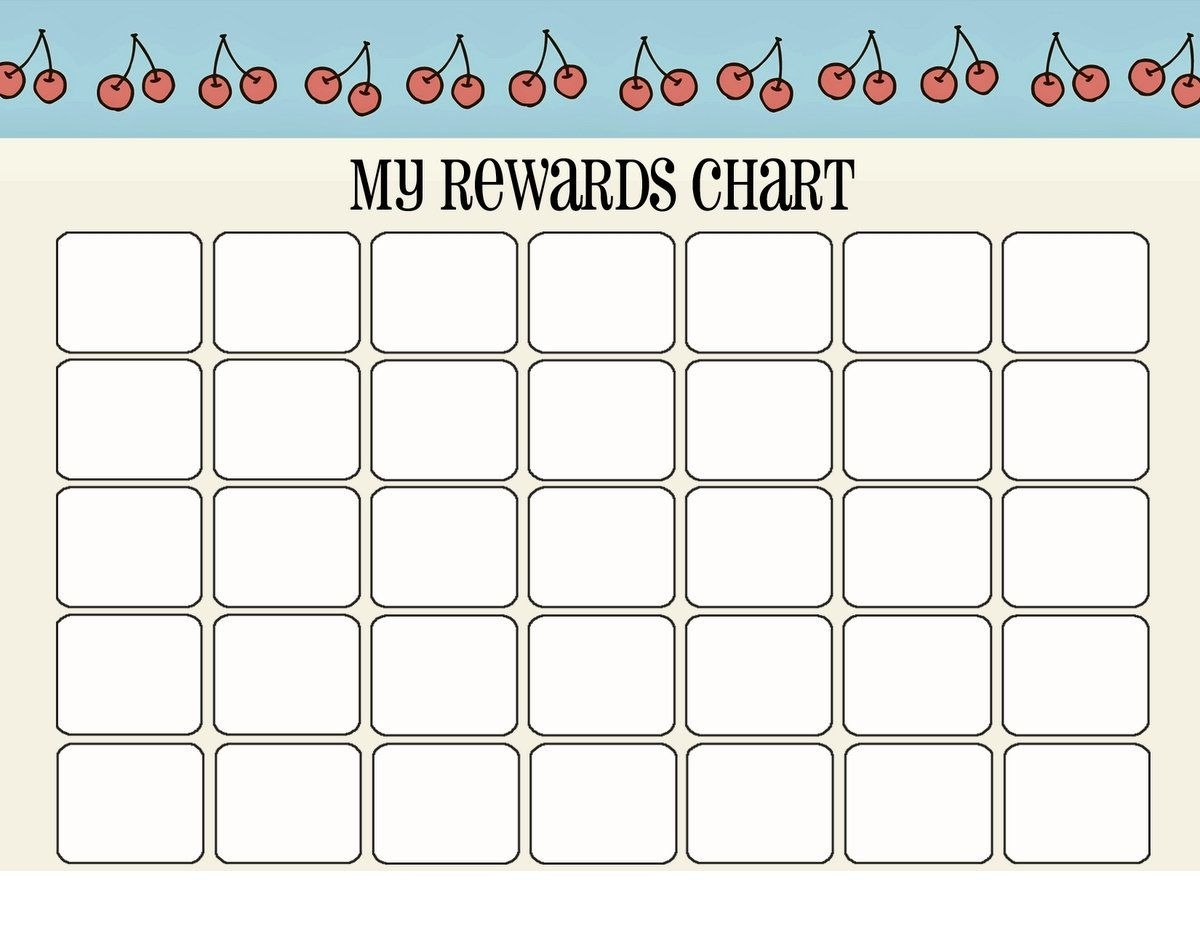 Printable Reward Charts For Kids (With Images) | Reward