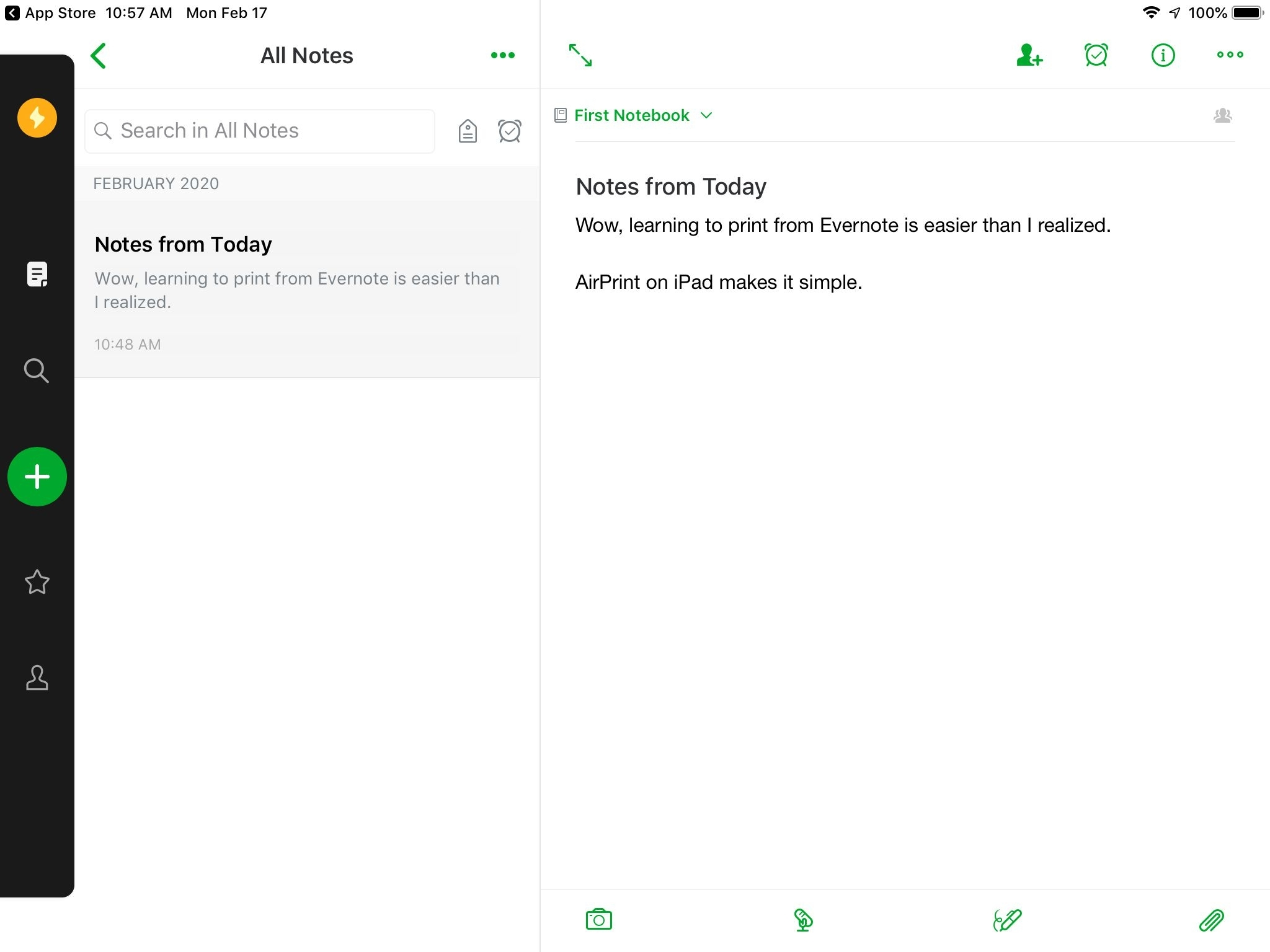 Printing A Note In Evernote For Ipad
