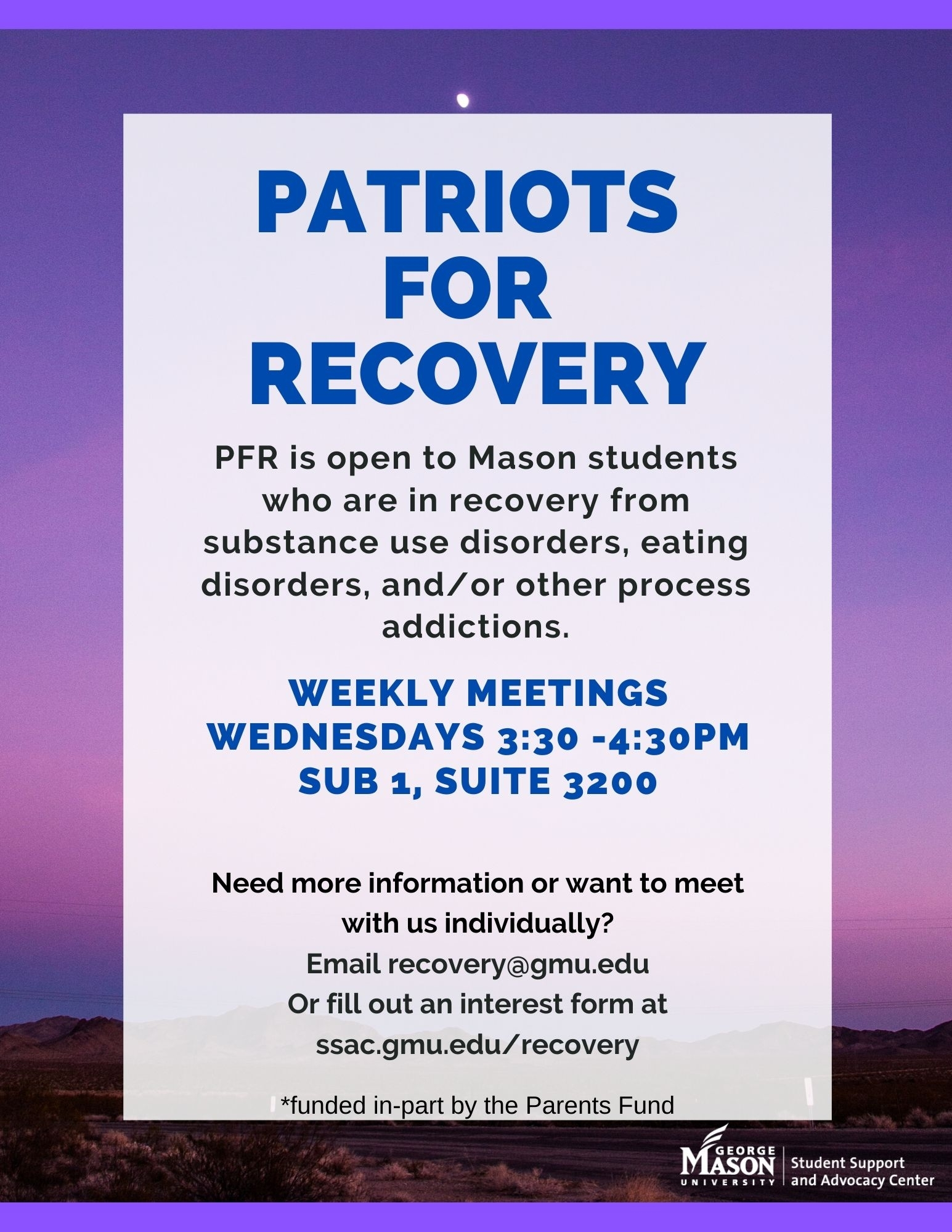 Recovery – Student Support And Advocacy Center