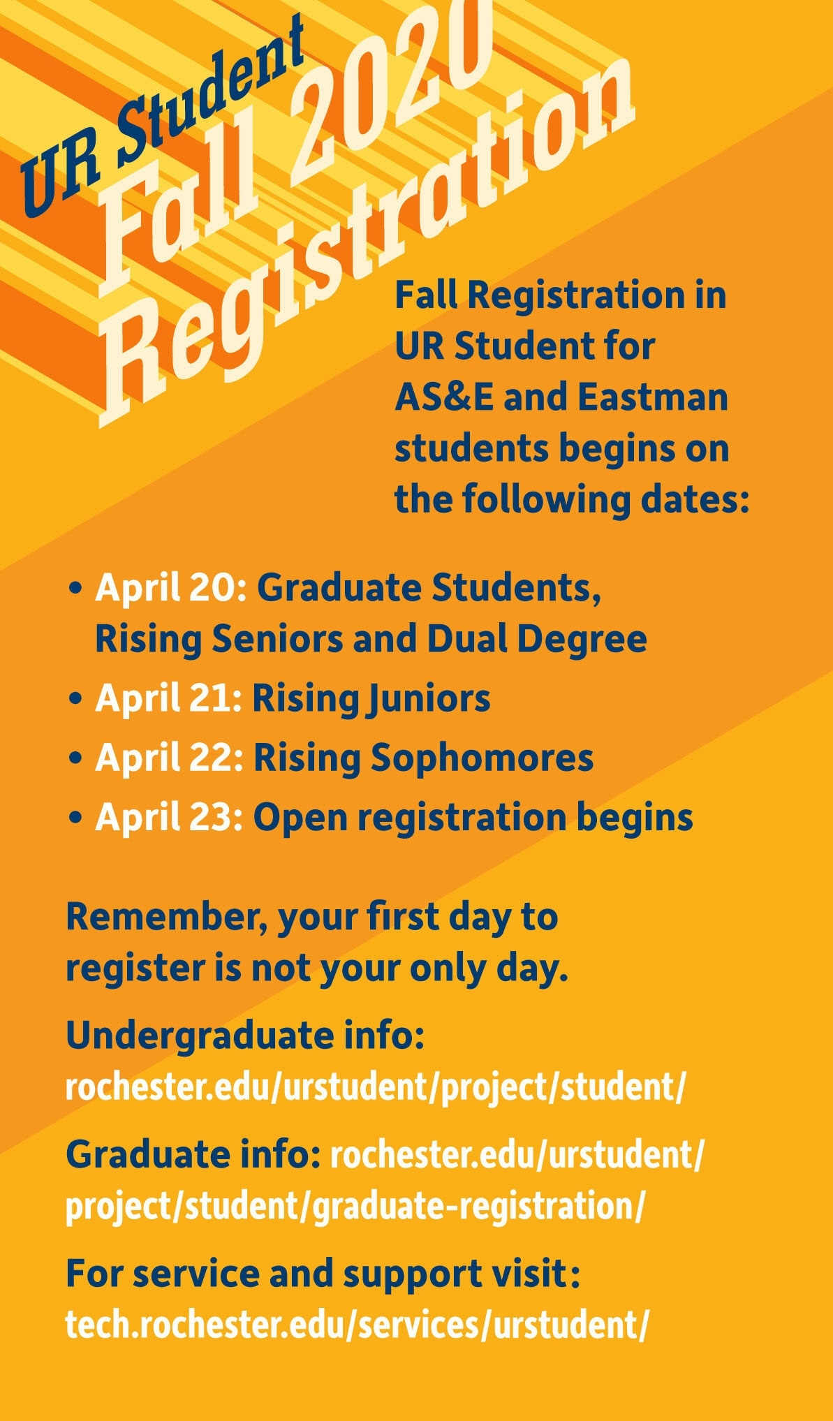 Registration Schedule : Registrar : University Of Rochester