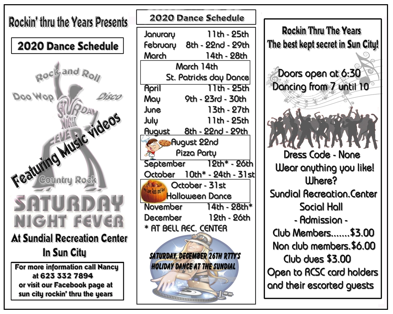 Rockin' Thru The Years Dance Club - Sun City, Arizona - The
