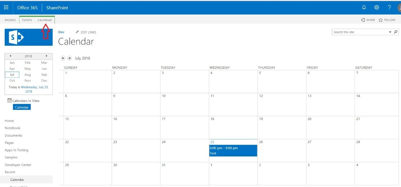 Sharepoint Calendar Outlook. Sharepoint Calendar In Outlook