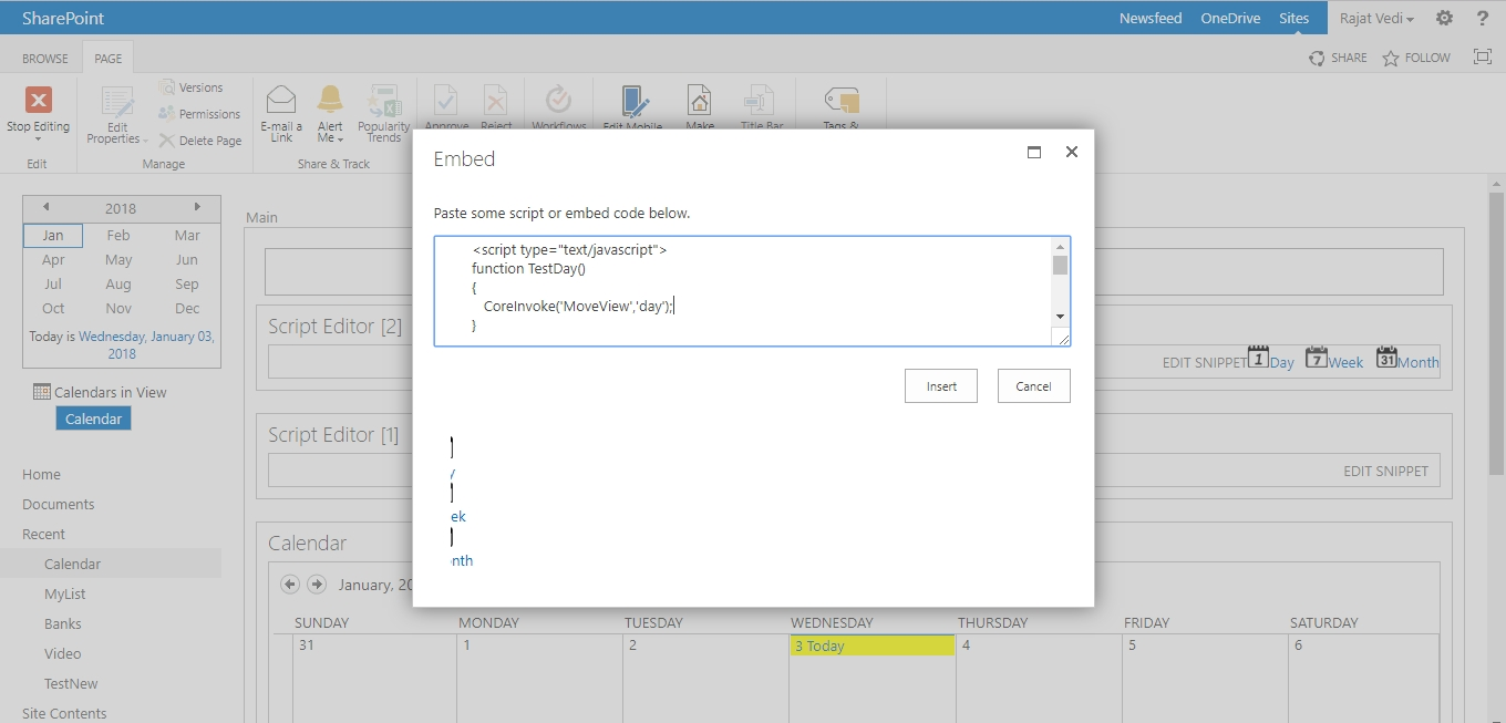 Show Month, Day And Week View In Sharepoint 2013 Calendar