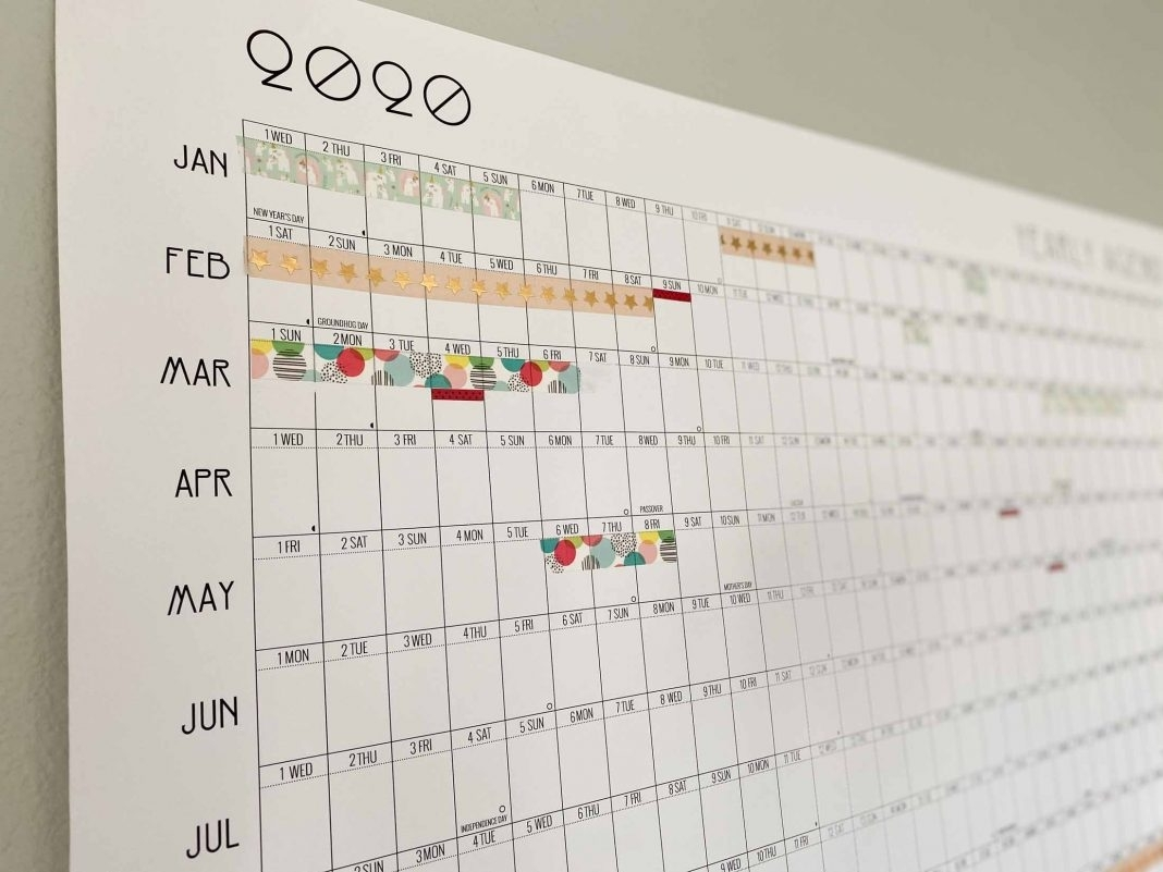 The Most Useful (& Fun) Printable, Year At-A-Glance Calendar