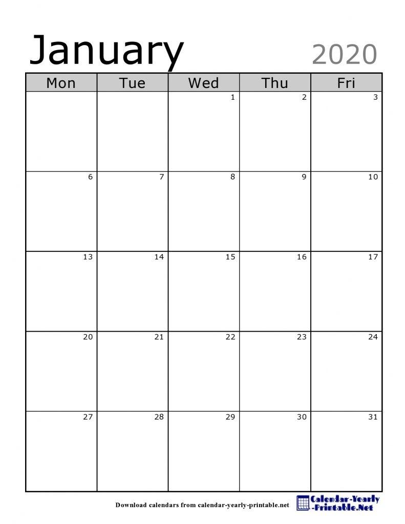 The Newest Free Version Of January 2020 Calendar - Calendar