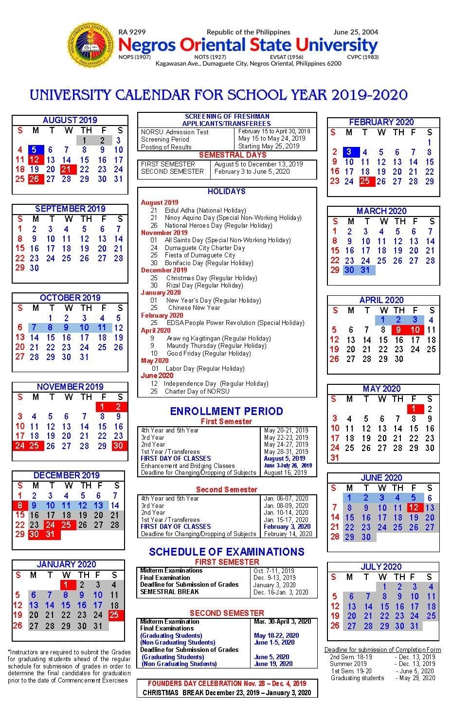 U Of R Calendar 2020 | Calendar Printables Free Templates