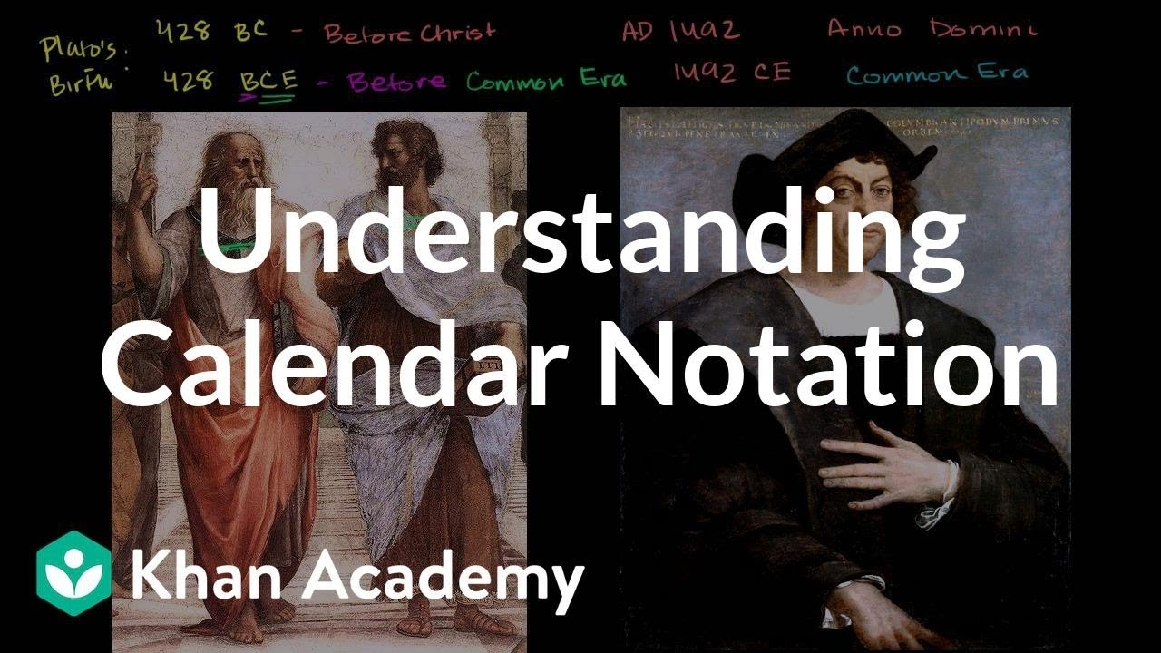 Understanding Calendar Notation (Video) | Khan Academy