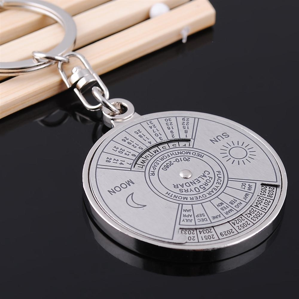 Us $0.52 30% Off|1Piece Fashion 50 Years Perpetual Calendar Shine Keyring  Key Chain Silver Alloy Key Chain Ring Keyfob|Key Chains| - Aliexpress