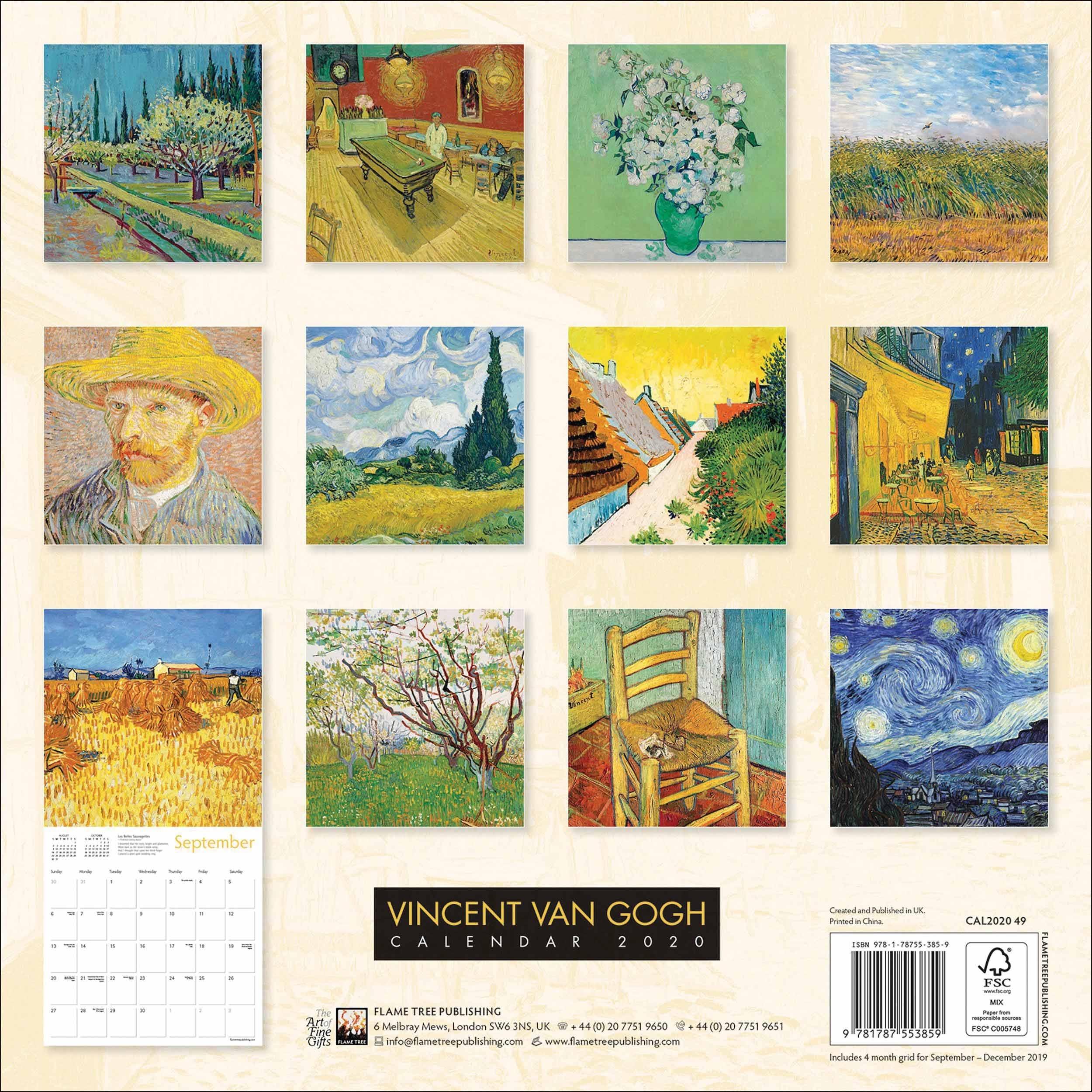 Vincent Van Gogh Calendar 2020 At Calendar Club
