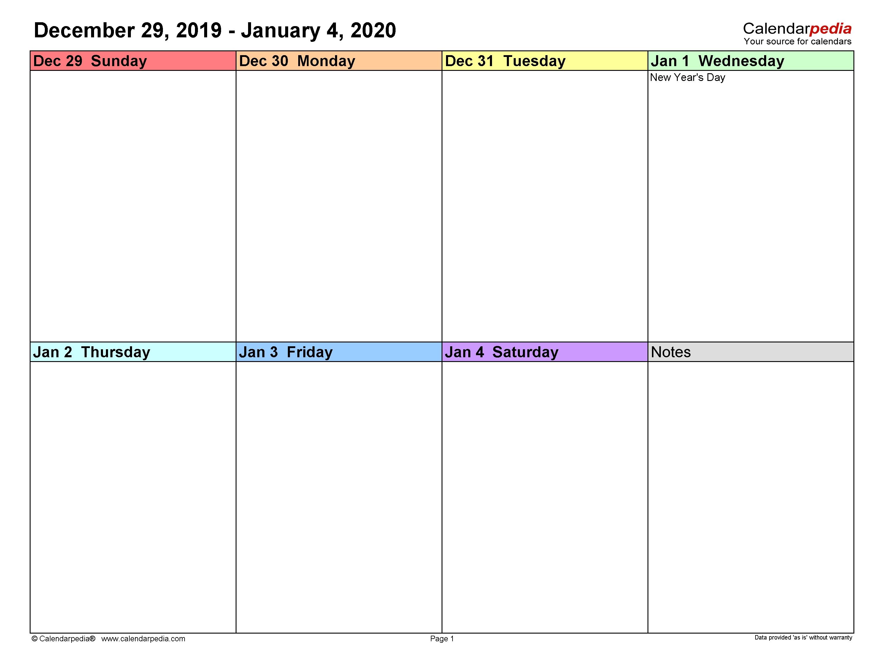 Calendar Week To Print