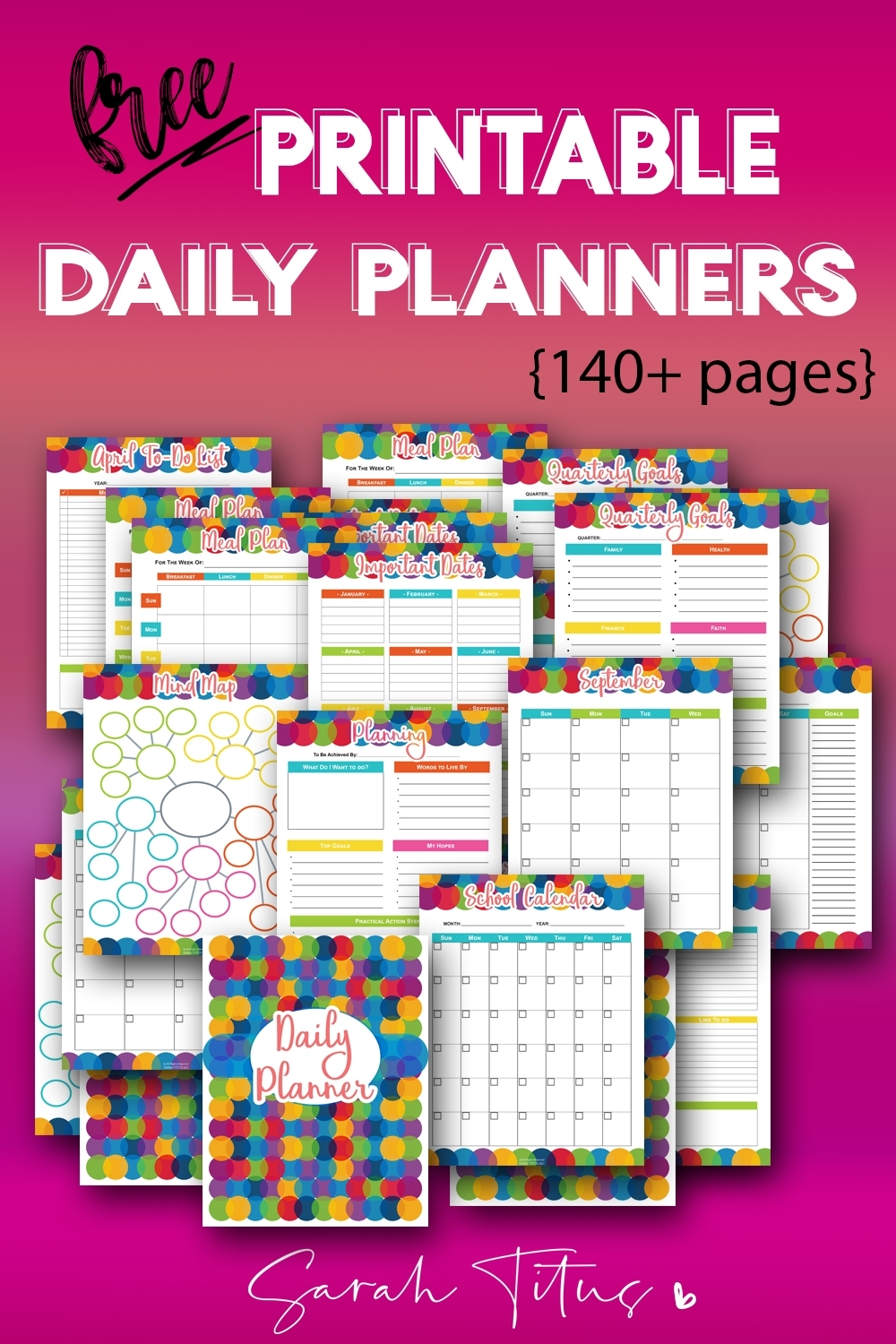 150+ Free Printable Daily Planner Templates That Will Save