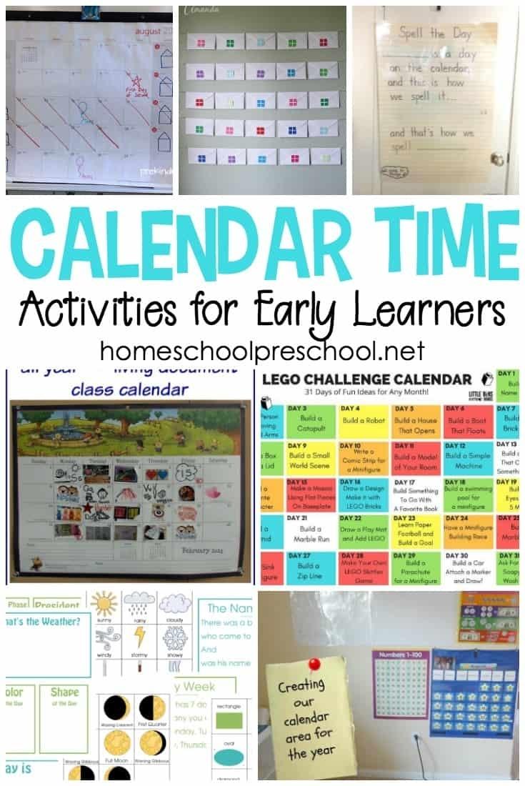 20 Calendar Time Activities For Kindergarten And Preschool