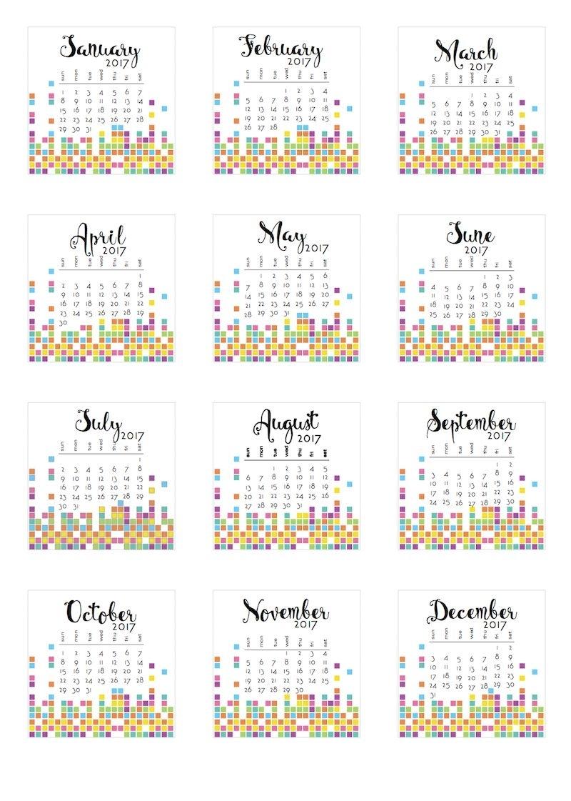 2017 Tear-Off Calendars | Calendar Printables, Free