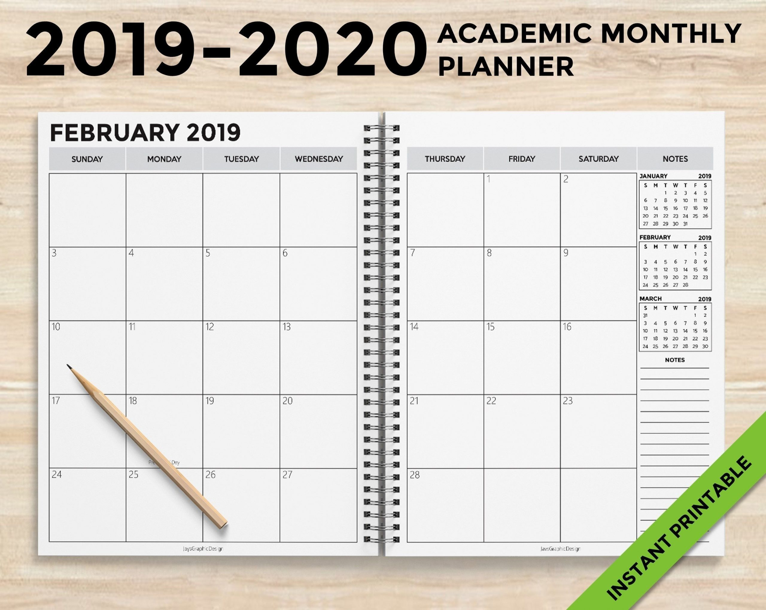 18 Month Academic Calendar
