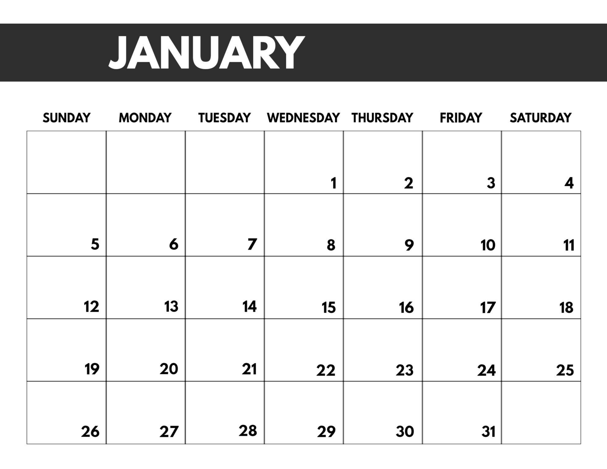 Monthly Calendars For Printing On 8.5 X 11 Paper