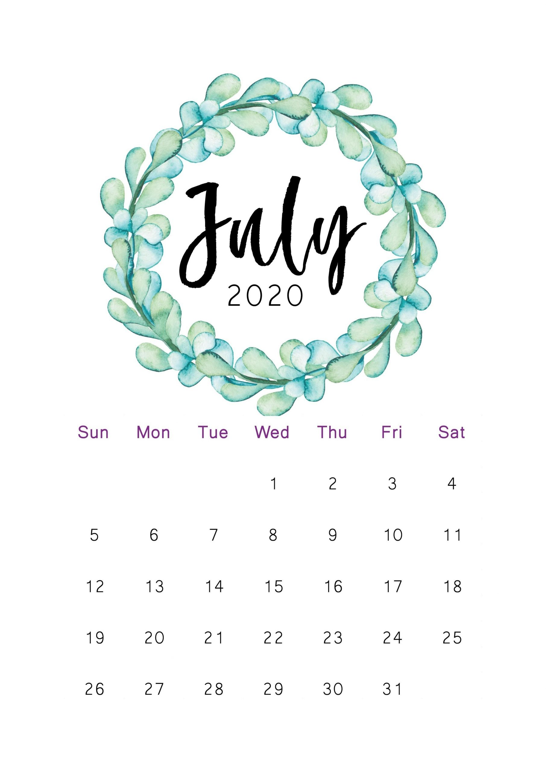 2020 Printable Calendar In 2020 | Calendar Printables